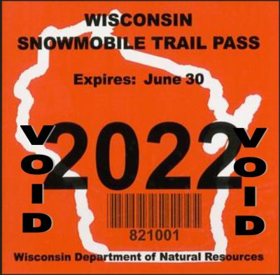 2022 Wisconsin Snowmobile Trail Pass